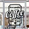Film imprimible para láser transparente para interior - Cartel cafetería