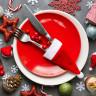 Funda para cubiertos gorro Papa Noel - Muestra decoración mesa