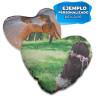 Fundas corazón para cojines con lentejuela reversible - Sublimadas