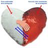 Fundas corazón para cojines - Reversibilidad de las lentejuelas