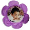 Funda de cojín forma flor lila personalizada