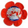 Funda de cojín forma flor roja personalizada