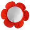 Funda de cojín forma flor roja