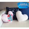 Fundas de tejido felpa para cojín corazón 45x38 cm - Conjunto sofá