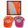 Gorras 5 paneles de poliester colores Fluor - Banda transpirable