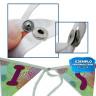 Guirnalda de tela para sublimación con 6 banderines - Broche de unión