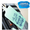 4 etiquetas identificativas para equipaje en hoja A4 - Impresas con láser
