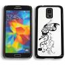 Maqueta de móvil modelo Samsung Galaxy S5 - Detalle frontal y reverso de maqueta con carcasa