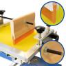 Máquina de serigrafía para tazas y botellas - Rasqueta con agujero de instalación en el centro