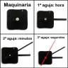 Maquinaria y agujas de reloj para paneles hasta 10 mm - Detalle montaje