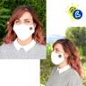 Mascarillas certificadas antivirus y bacterias reutilizables modelo 3D - Ejemplo de uso y personalización