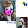 Mascarillas faciales para sublimación doble capa colores flúor - Ejemplos de personalización y uso