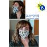 Mascarillas faciales para sublimación elásticas - Ejemplo de personalización y uso