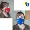 Mascarillas higiénicas 3D de colores para adultos - Ejemplo personalizado