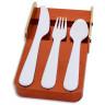 Molde 3D para cucharas, cuchillos y tenedores de plástico - Ejemplo molde abierto con cubiertos