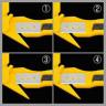 Cutter para flejes, films y precintos Olfa SK-10 - Posiciones