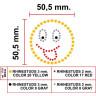 Diseño de pedrería Happy