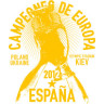 Diseño Transfer España Campeones de Europa 2012 pack 10 uds