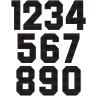 Números Tejidos Block Negro