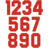 Números Tejidos Block Rojo