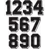 Números Tejidos 3D Negro