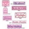 Parches bordados Bebes rosa Surtido 8 uds