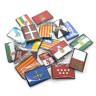 Parche bordado bandera de Castilla la Mancha pack 3 uds - Surtido autonomías