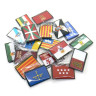 Parche bordado bandera de Cataluña pack 3 uds - surtido autonomías
