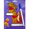 Marcadores de prendas bordados Winnie y Tigger con boligrafo
