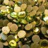 Pedrería de Cristal Octogonal Oro
