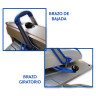 Pack Plancha transfer manual XH1.1 de 40x50 Combo 6 en 1 - Detalle brazos