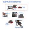 Pack Plancha transfer manual XH1.1 de 40x50 Combo 6 en 1 - Cambio de platos