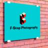 Paneles fotográficos de aluminio blanco brillo para exterior - Ejemplo placa identificativa