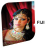 Panel fotográfico de aluminio blanco brillo Fiji