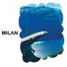 Panel fotográfico de aluminio blanco brillo Milán