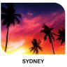 Panel fotográfico de aluminio blanco brillo Sydney