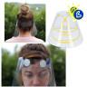 Pantalla protectora facial de plástico RPET transparente - Espumas frontales y pestañas de ajuste