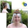 Pantalla protectora facial de plástico RPET transparente - Ejemplo de uso