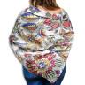 Pañuelo de tejido vaporoso de 100 x 100 cm - Estampado como mantón