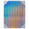 Papel adhesivo imprimible Silhouette holográfico - Hoja de papel holográfico con puntos- Ref. 040116