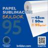 Papel sublimación en bobina Brildor 95 - De 43 cm x 50 m