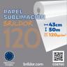 Papel sublimación en bobina Brildor 120 - De 43 cm x 50 m