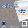 Papel sublimación en bobina Brildor 120 - De 61 cm x 50 m