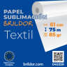 Papel de sublimación en rollo Brildor Textil  - Bobina 61cm x 75m