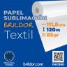 Papel de sublimación en rollo Brildor Textil  - Bobina 111,8cm x 120m