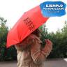 Paraguas plegable para sublimación de material reciclado - Ejemplo personalizado