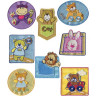 Parches bordados Animales infantiles Surtido 8 uds