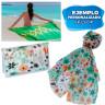Pareo foulard para subllimación con neceser - Ejemplos de personalización y uso