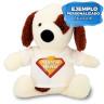 Peluche perro manchas con camiseta para sublimación de 22cm - Ejemplo personalizado