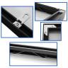 Perfiles de aluminio negro para enmarcación - Detalles del herraje de un marco